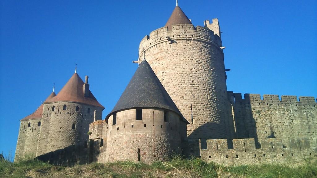 Carcassonne in Frankreich ist die Vorlage für das Spiel