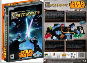 Vorder und Rückseite Star Wars Carcassonne