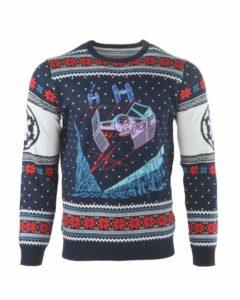 Weihnachtspullover mit TIE Fighter