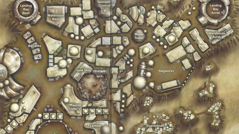 Star Wars Pen & Paper Karte aus dem Einsteigerset